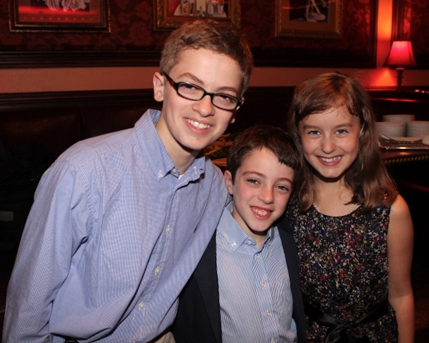 Griffen Birney with some of the cast from Fun Home