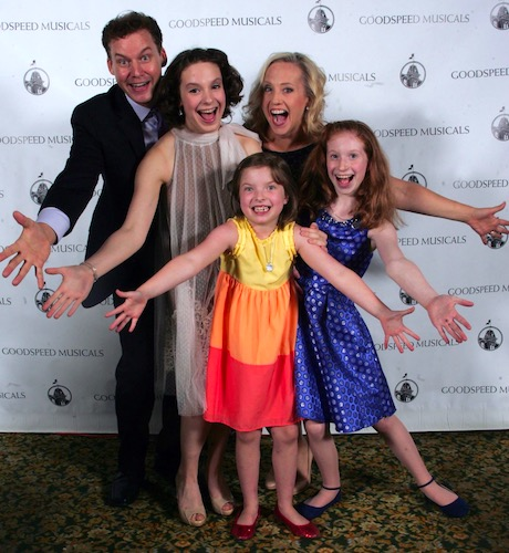 Piper Birney (in the blue) with the cast of Chasing Rainbows